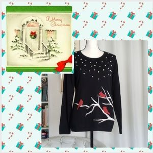 Embellished Holiday top sz M